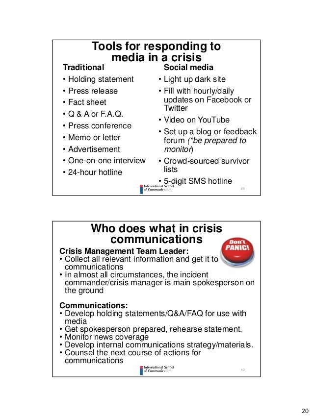 communication crisis internet thesis Bachelor's thesis instructor: mirjaliisa charles  various platforms have changed  corporate crisis communication it also aimed  internet and the social media, it  is possible to identify key target groups for different types of.