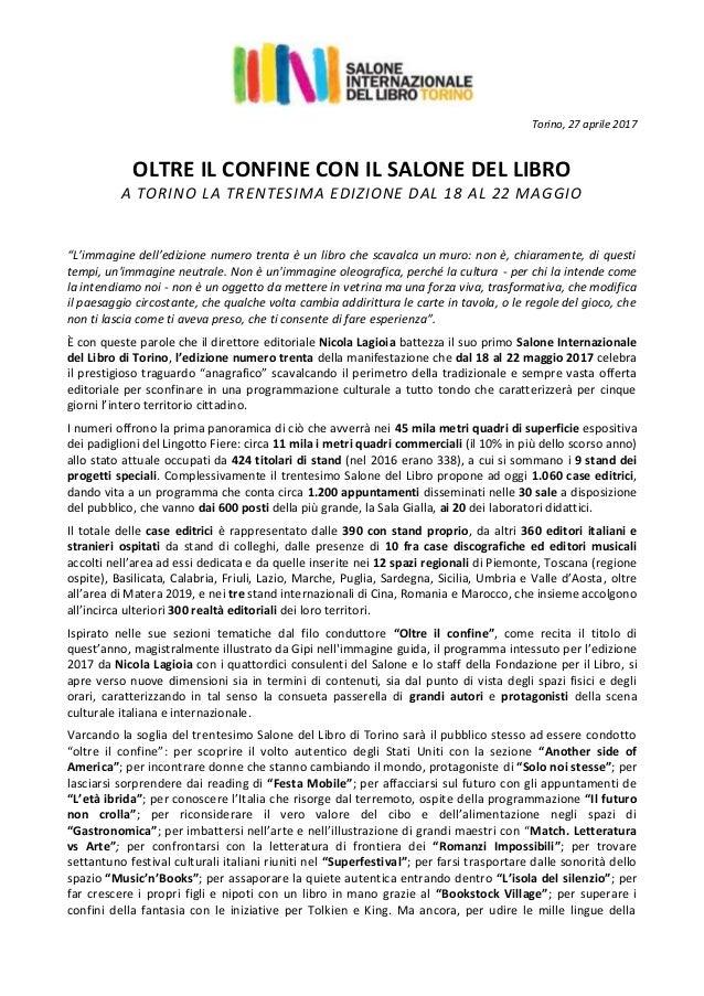 Calendario Discussione Tesi Unito.Programma Salone Del Libro Torino 2017