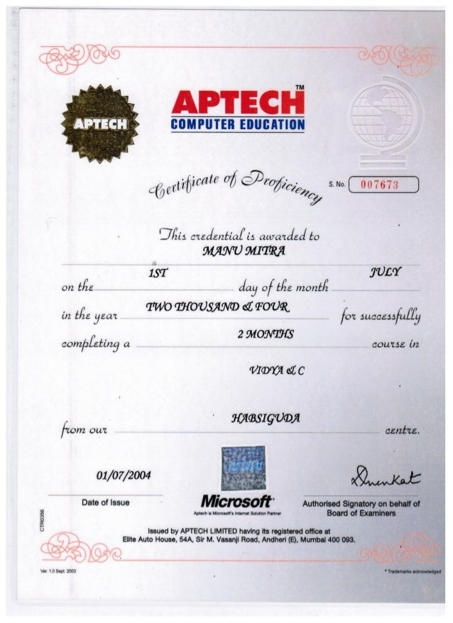 microsoft office certificates