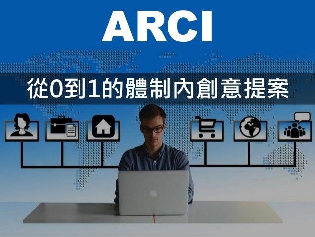 ARCI 從0到1的體制內創意提案