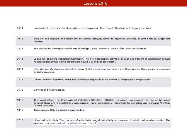 Iolanda Pensa, Heritage Management 2018, Introduction Slide 2