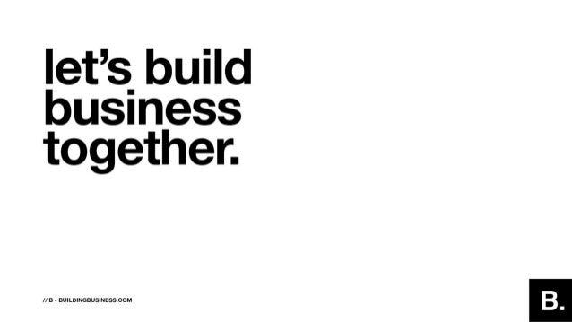 Let's build business together -- Marjan Blumberg