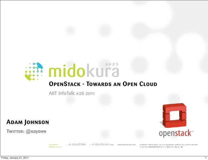 01.19.2011 AIIT InfoTalk on OpenStack