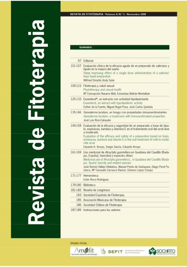 135RevistadeFitoterapia2008;8(2):135-146 JoséLuisRíos-Cañavate DepartamentodeFarmacología,FacultaddeFarmacia,...