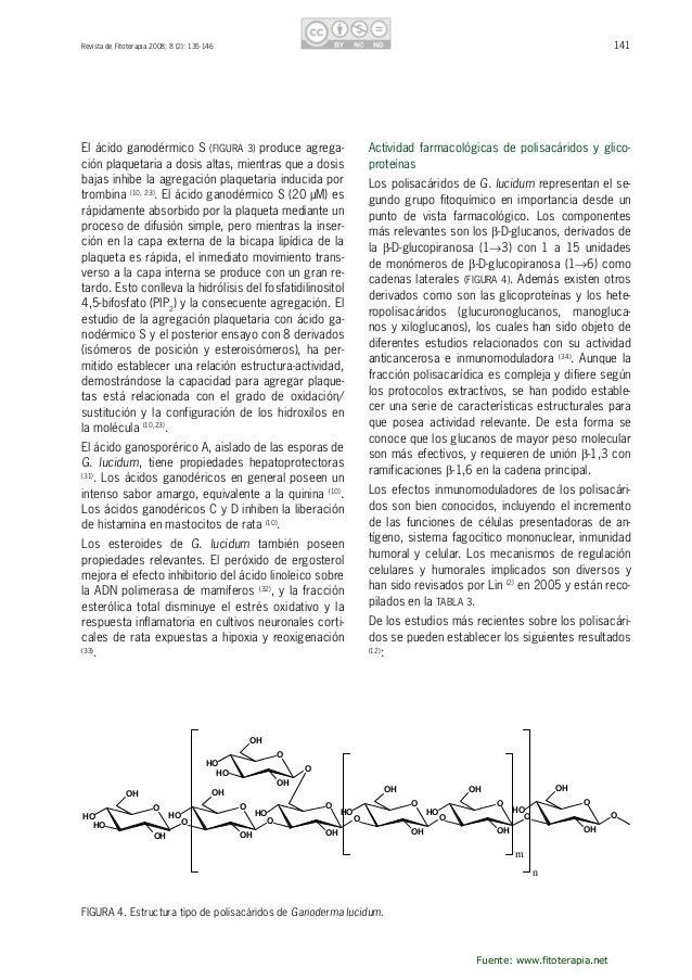 142 RevistadeFitoterapia2008;8(2):135-146 a)Lospolisacáridossolublesenaguaprotegenal ADNdelaroturadelfi...