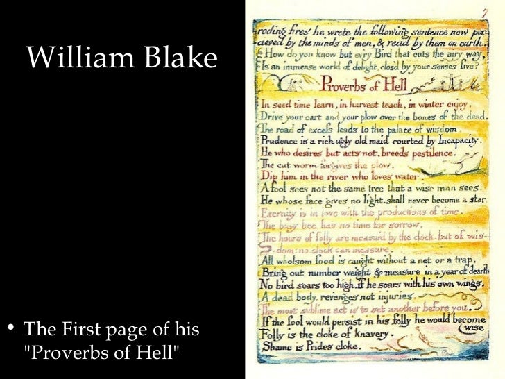 the proverbs of hell