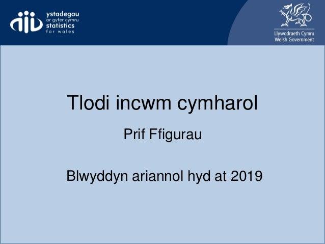 Tlodi incwm cymharol Prif Ffigurau Blwyddyn ariannol hyd at 2019