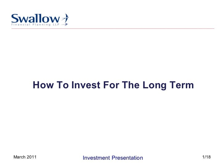 How To Invest For The Long Term