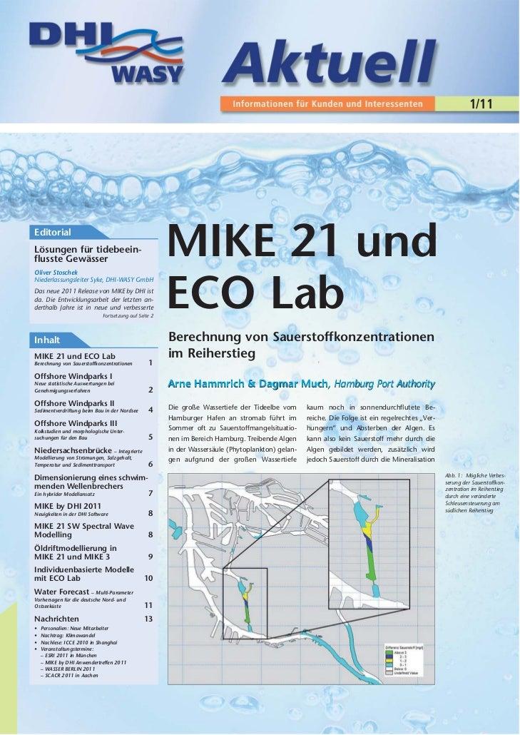 1/11EditorialLösungen für tidebeein-flusste GewässerOliver Stoschek                                                       ...