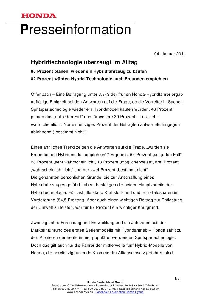 Presseinformation                                                                                        04. Januar 2011 H...