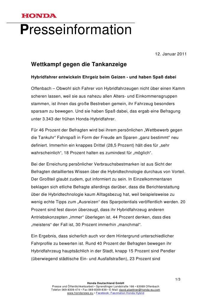 Presseinformation                                                                                        12. Januar 2011 W...