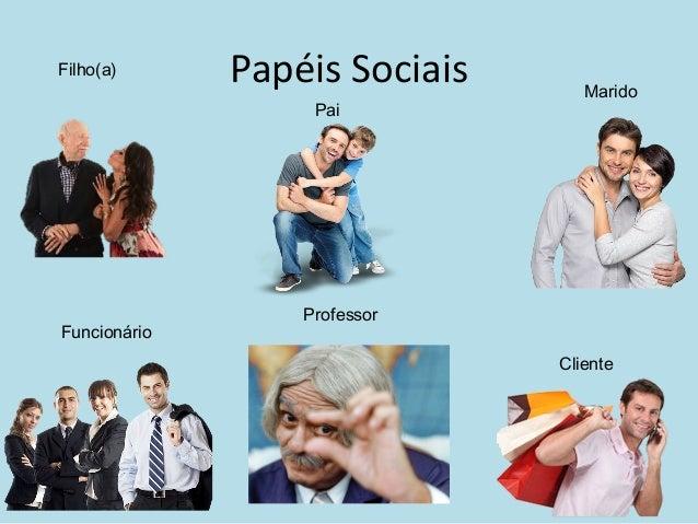 Papéis SociaisFilho(a) Pai Marido Funcionário Cliente Professor