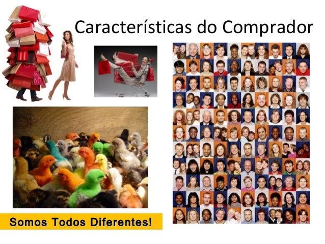 Características do Comprador Somos Todos Diferentes!Somos Todos Diferentes!