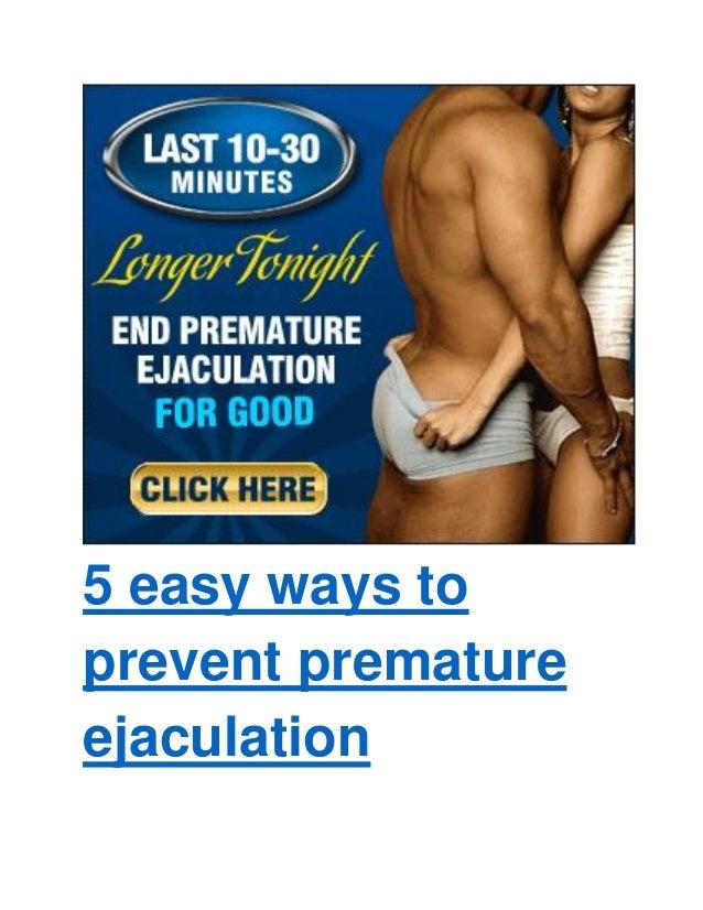 How do i control premature ejaculation