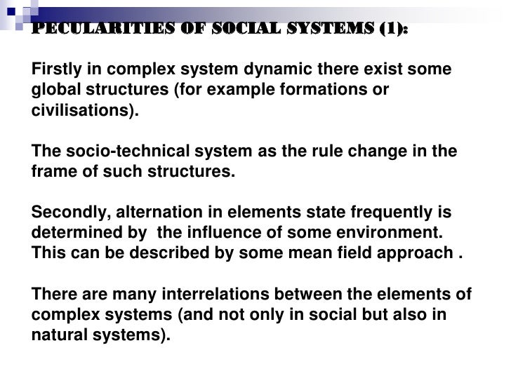 General Problems Of Social System Modelling Problems And Models Of