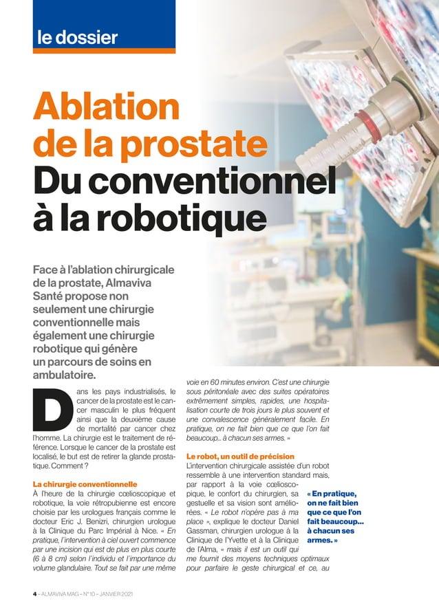 Face à l'ablation chirurgicale de la prostate, Almaviva Santé propose non seulement une chirurgie conventionnelle mais éga...