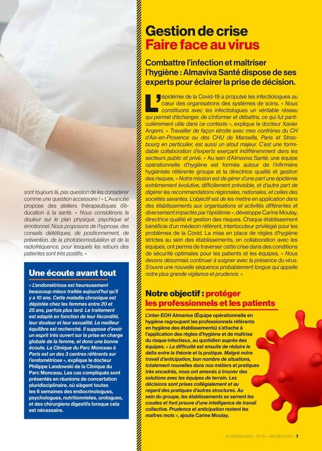 Gestion de crise Faire face au virus Combattre l'infection et maîtriser l'hygiène: Almaviva Santé dispose de ses expert...