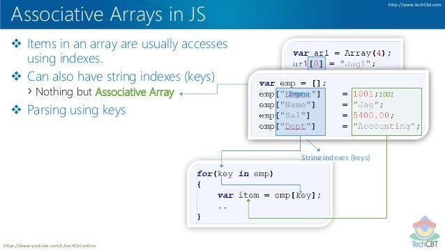 TechCBT: JavaScript Arrays in Depth