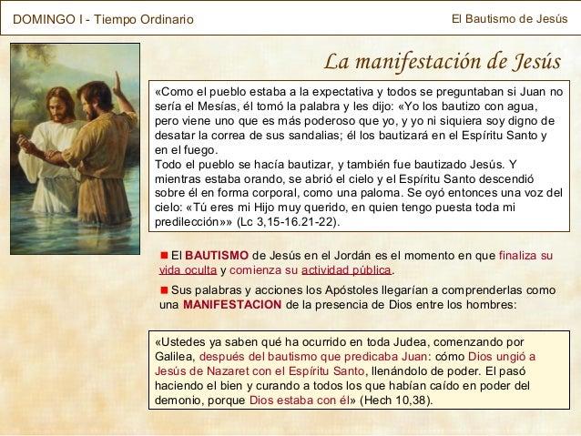 DOMINGO I - Tiempo Ordinario                                               El Bautismo de Jesús                           ...