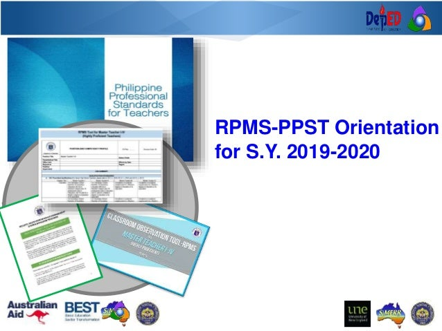 RCTQ RPMS-PPST Orientation for S.Y. 2019-2020