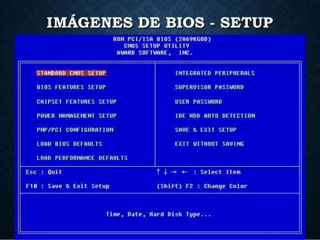 IMÁGENES DE BIOS - SETUP