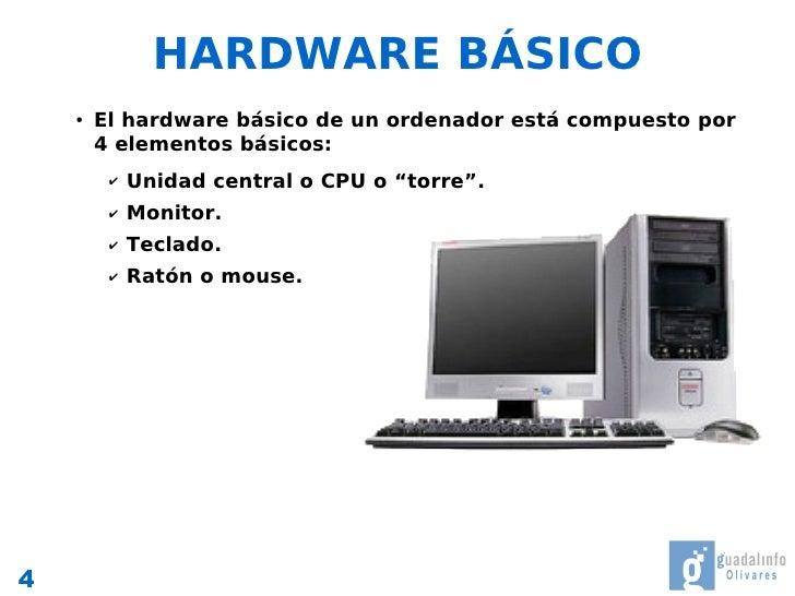 Componentes b sicos de un ordenador for Elementos de hardware