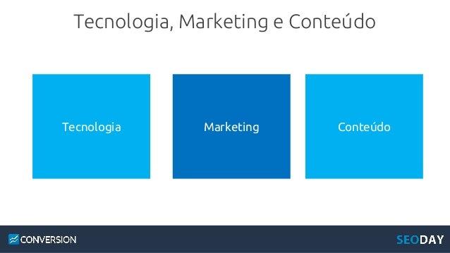 Tecnologia, Marketing e Conteúdo Tecnologia Marketing Conteúdo