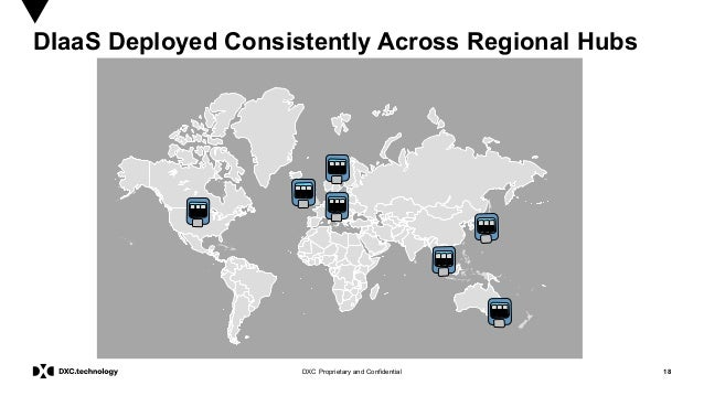18DXC Proprietary and Confidential DIaaS Deployed Consistently Across Regional Hubs