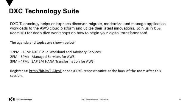 31DXC Proprietary and Confidential DXC Technology Suite DXC Technology helps enterprises discover, migrate, modernize and ...