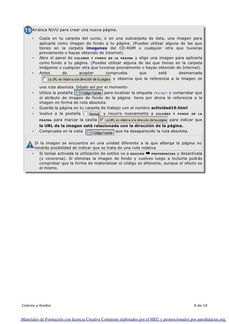 Arranca N|VU para crear una nueva página.        •     Copia en tu carpeta del curso, o en una subcarpeta de ésta, una ima...