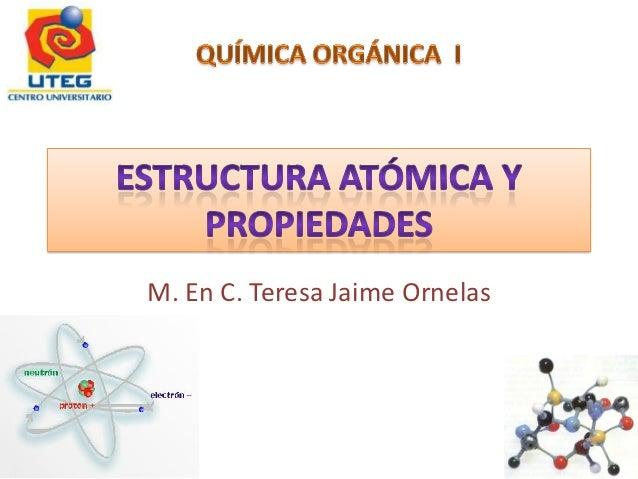 M. En C. Teresa Jaime Ornelas