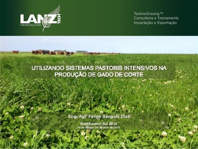 Eng. Agr. Felipe Sangalli Dias TechnoGrazing™ Consultoria e Treinamento Importação e Exportação BeefSummit Sul 2014 Porto ...