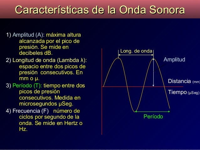 Resultado de imagen para ondas sonoras caracteristicas