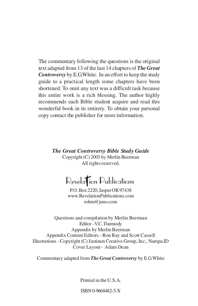 Great Controversy Pdf