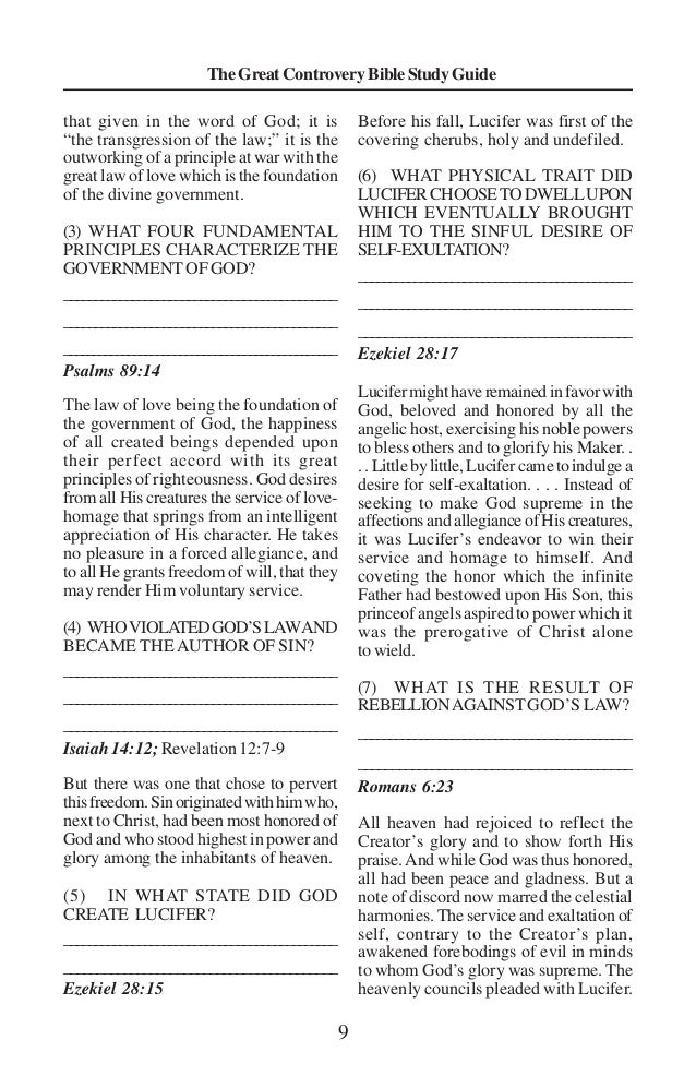 01 great controversy bible study guide pdf