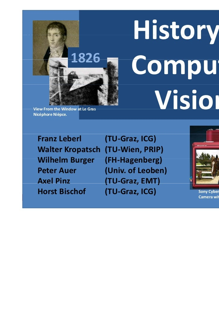 History of Institute for Computer Graphics and Vision, Graz, University of Technology                         1826        ...