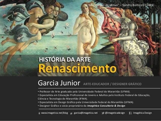 www.imagetica.net/blog garcia@imagetica.net @imageticadesign Imagética Design• Professor de Arte graduado pela Universidad...
