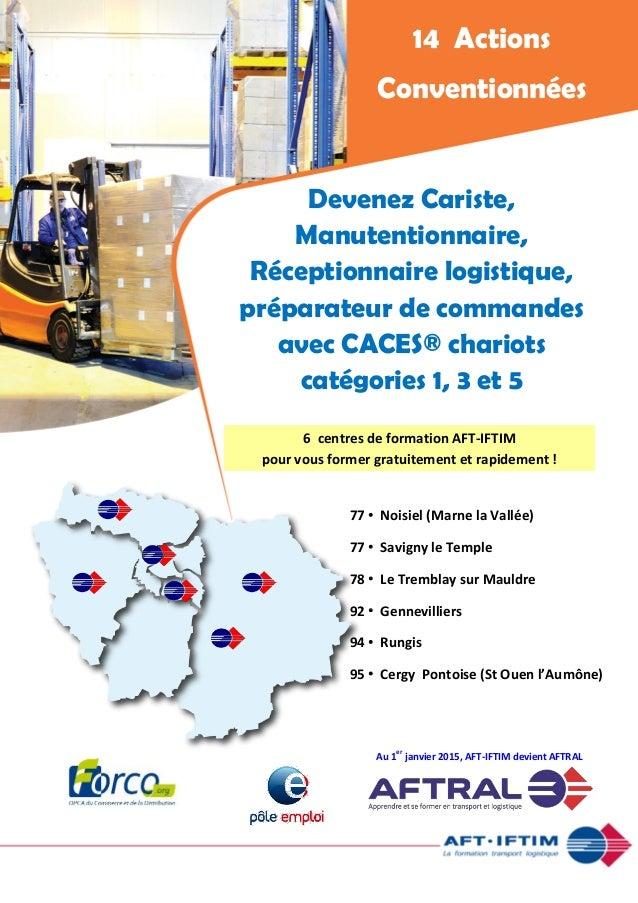 Devenez Cariste, Manutentionnaire, Réceptionnaire logistique, préparateur de commandes avec CACES® chariots catégories 1, ...