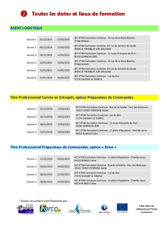 info actions conventionn u00e9es logistique