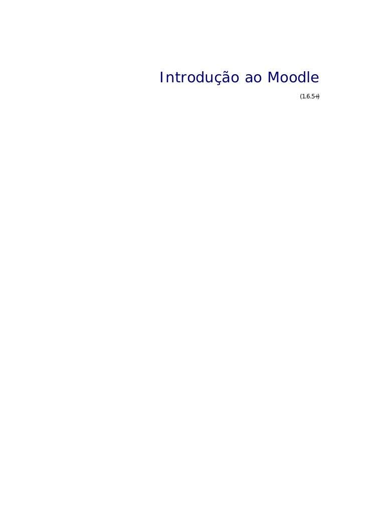 Introdução ao Moodle                 (1.6.5+)