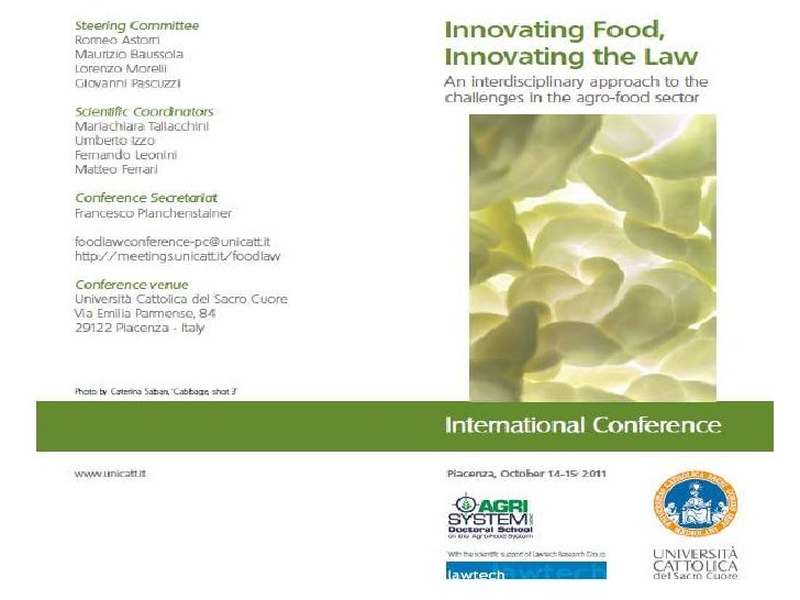 01 - Innovating Food, Innovating the Law - introduction