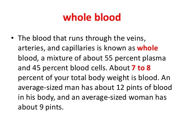 an introduction to blood There are four main blood groups (types of blood) – a, b, ab and o your blood group is determined by the genes you inherit from your parents each group can be either rhd positive or rhd negative, which means in total there are eight main blood groups.