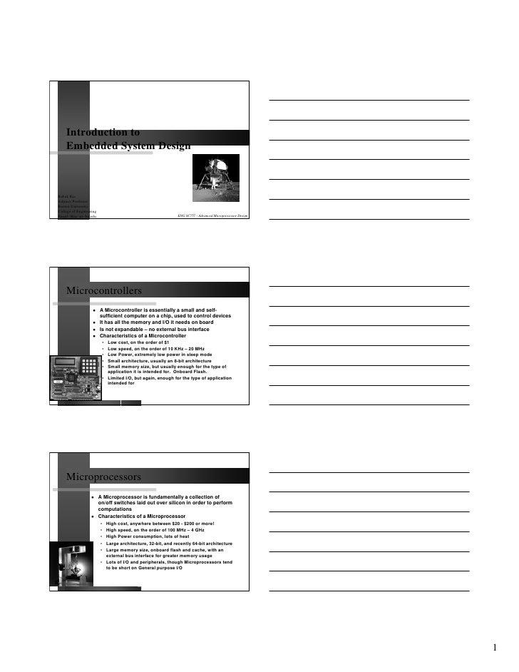 Introduction to    Embedded System DesignBabak KiaAdjunct ProfessorBoston UniversityCollege of EngineeringEmail: bkia -at-...