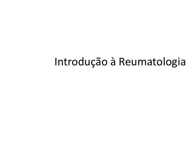 Introdução à Reumatologia