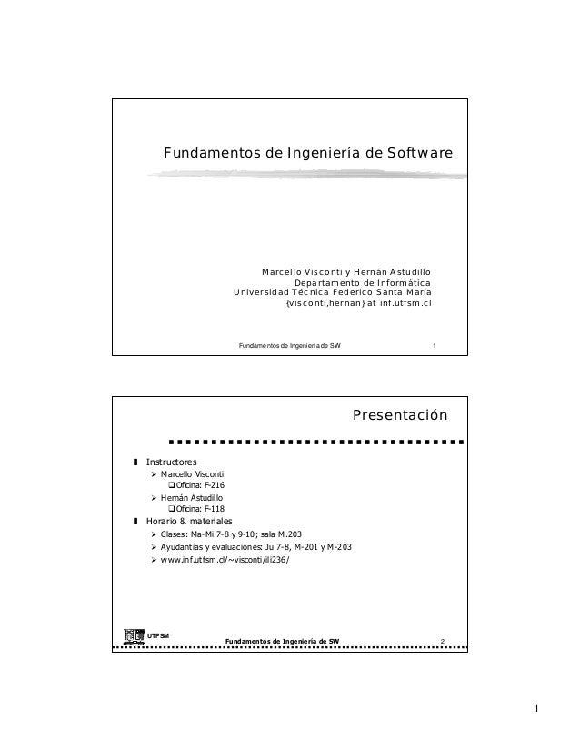 Fundamentos de Ingeniería de Software                                                    Marcello Visconti y Hernán Astudi...