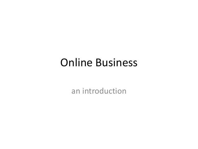 Online Businessan introduction