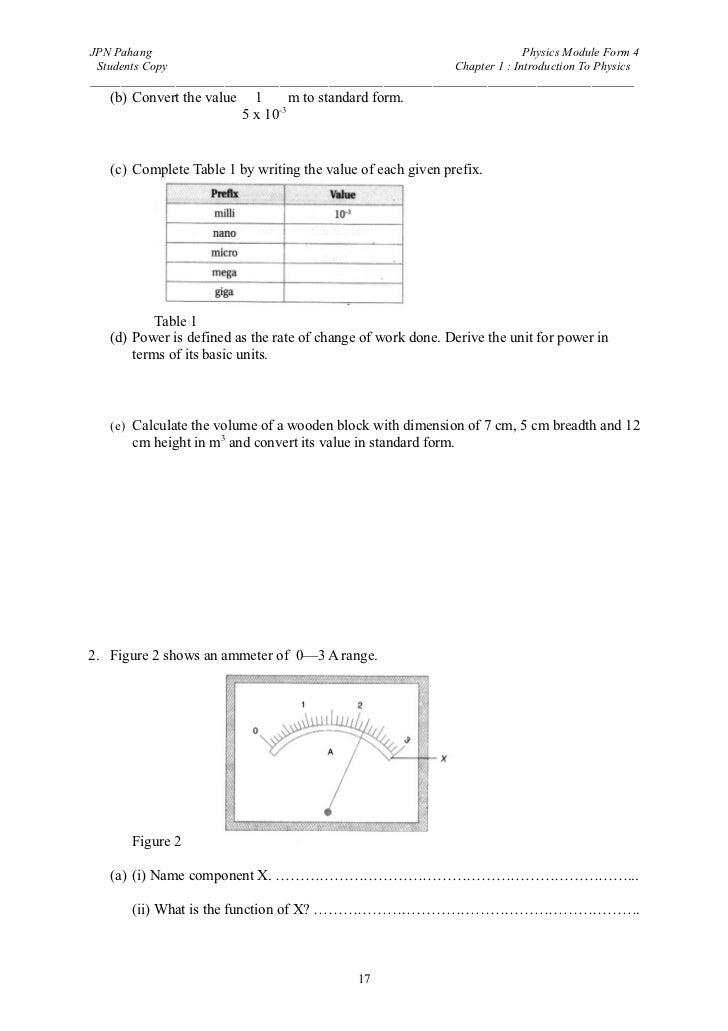 Spm Physics Form 4 Intro To Physics
