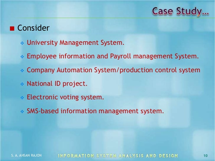 Information Systems - Case Study - MyAssignmenthelp.com