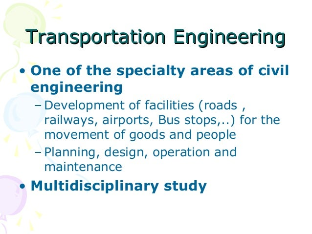 Highway and traffic engineering transportation engineeringtransportation engineering one of fandeluxe Images