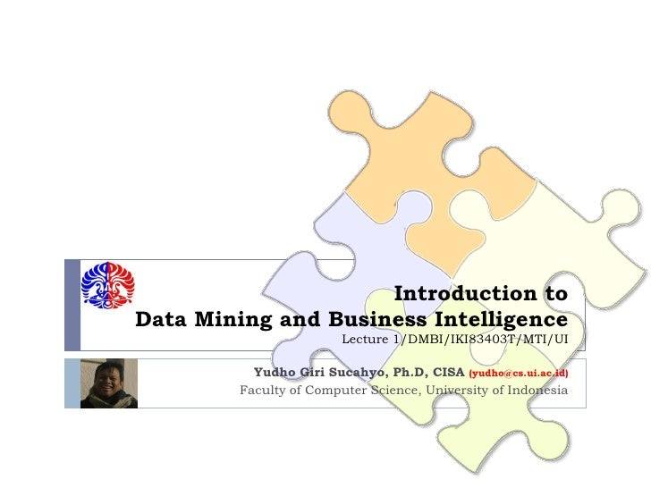 Introduction to Data Mining and Business Intelligence                         Lecture 1/DMBI/IKI83403T/MTI/UI            Y...